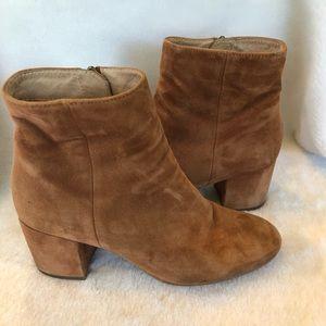 Nordstrom Halogen brown suede block heeled boots 7